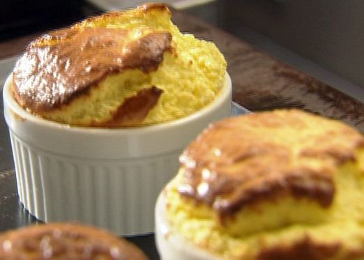 Blue Cheese Souffle with Fresh Figs and Honey from FoodNetwork.com