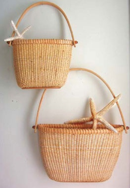 Some baskets for the wall to add some contrasting color