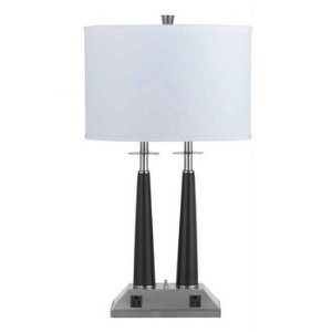 power up 10 bedside lamps with built in power outlets. Black Bedroom Furniture Sets. Home Design Ideas