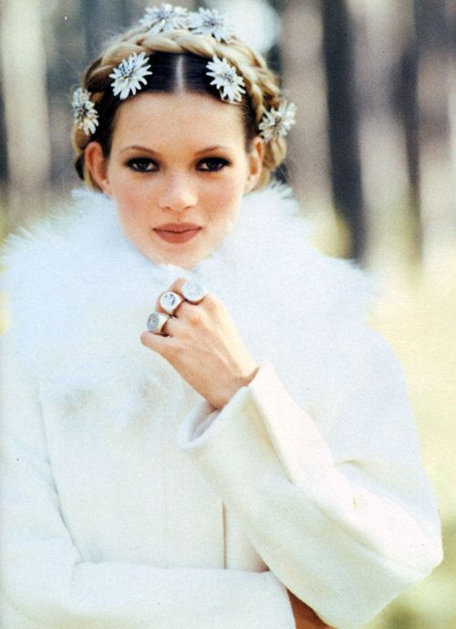 Romance 3: Kate Moss by Arthur Elgort for Vogue Italia, October 1992