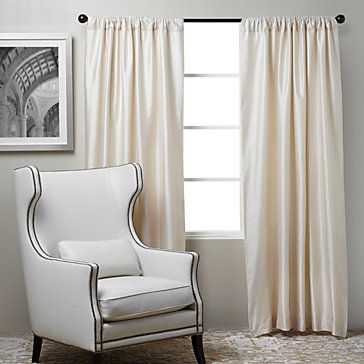 Accentuate the elegance by creating a backdrop of luxurious Oyster Valentino drapery panels. $79.95
