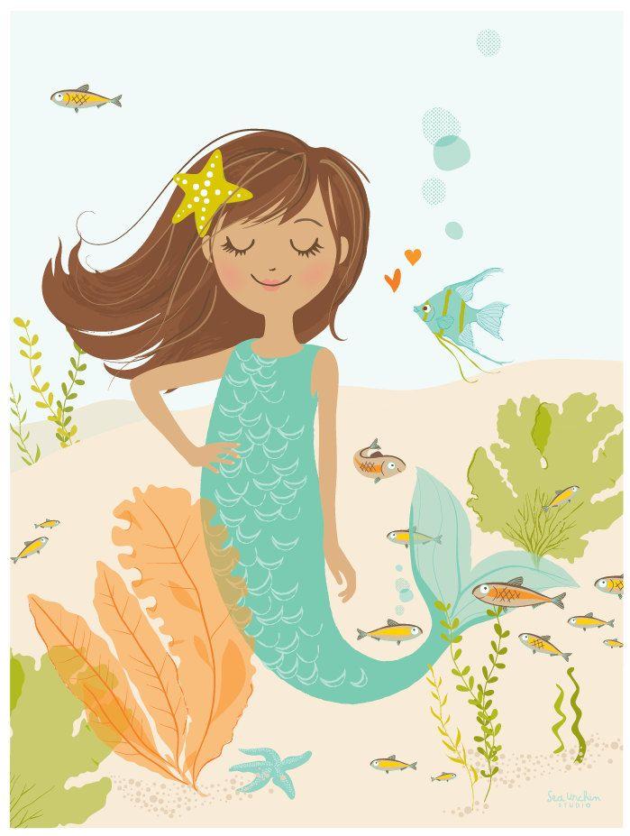 Mermaid Illustration S15 Pinterest