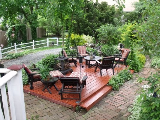 Raised Detached Deck Detached Patio Deck Design Ideas
