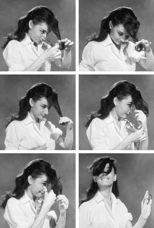 How to Cut Bangs Like a Lady. {gif}