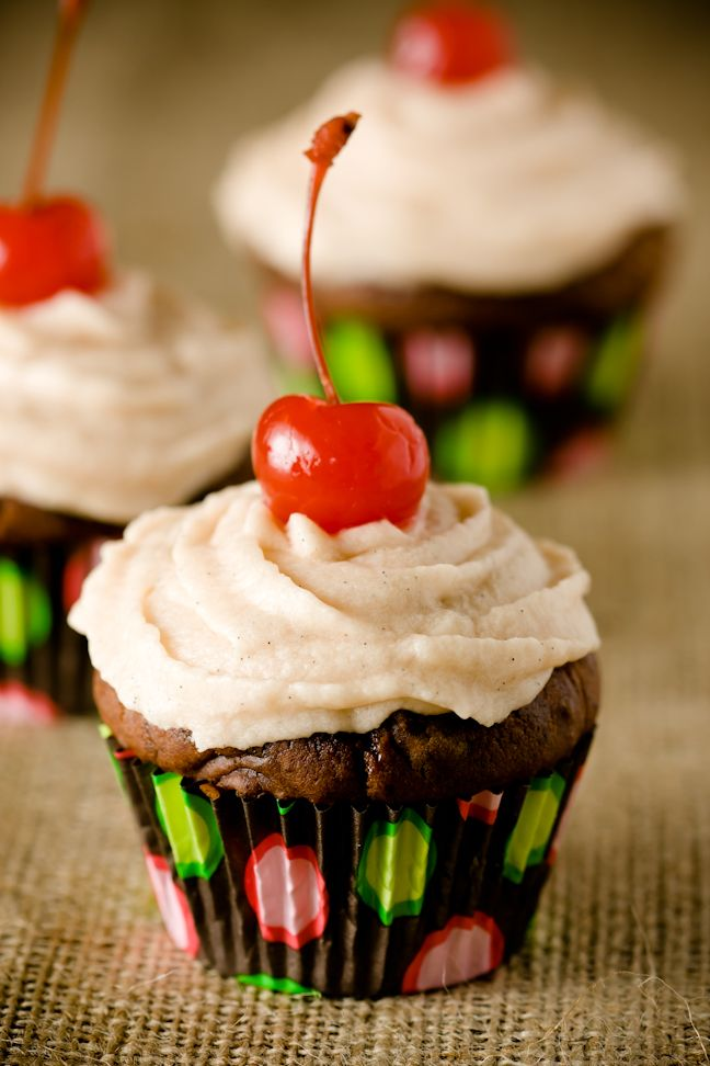 Chocolate Cherry Cupcakes, Two Ways ~ Cupcake Project