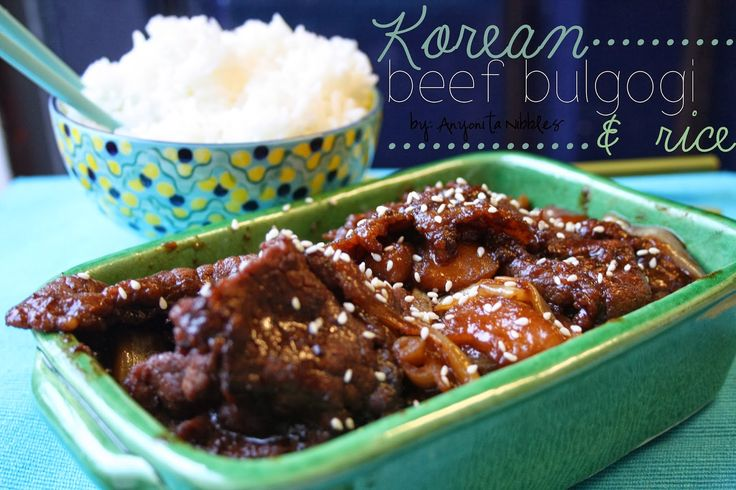 Beef Bulgogi & Rice (Korean BBQ) | din din | Pinterest