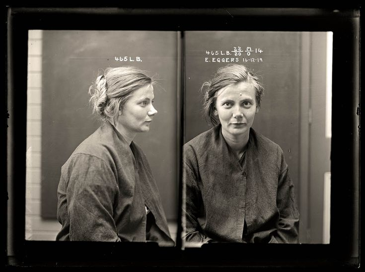 """The NSW Police Forensic Photography Archive has a fascinating collection of 1920s mugshots. This one is of Esther Eggers, 1919. Their description of her: """"Crime: malicious injury to property and wounding with intent to do grievous bodily harm. When a police officer arrived to arrest Esther Eggers for malicious damage she attacked him, causing serious injury. Eggers was sentenced to 12 months prison. Aged 22."""" #portraits #women"""