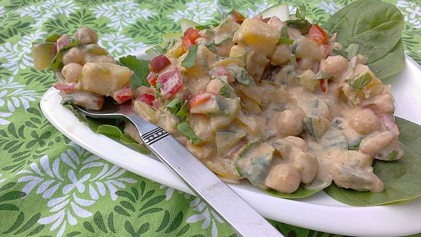 Indian chickpea potato salad. | Vegan Recipes to Try | Pinterest