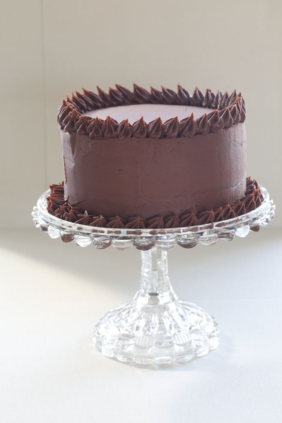 Understated Chocolate Cake (Cocoa Cake with Bittersweet Ganache) - A Little Zaftig