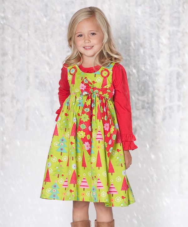 Christmas tree puffy dress amp top infant toddler amp girls on zulily