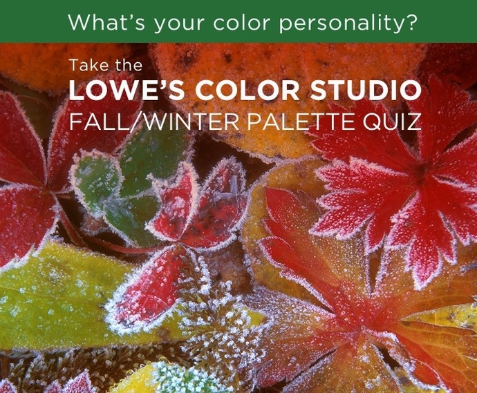 "Take the Lowe's Color Studio Fall/Winter Palette Quiz"" My result"