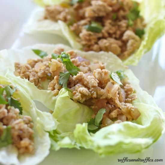 Chicken Recipe : Thai Larb Chicken Lettuce Cups