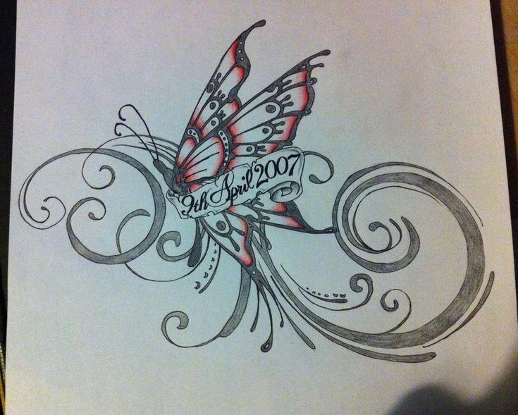 butterfly tattoo tats pinterest. Black Bedroom Furniture Sets. Home Design Ideas