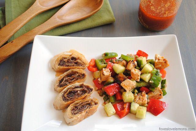 Gazpacho Chopped Salad with Bacon-Balsamic Strudel - tastes like the ...