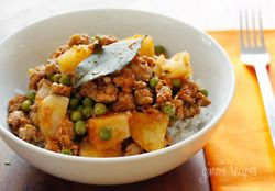 Ground Turkey with Potatoes and Peas | Culinary Noms and delights ...