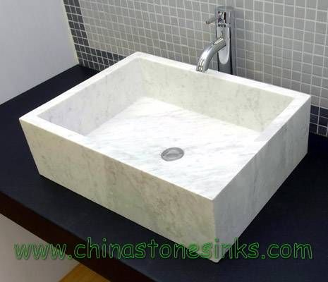 Square Marble Sink : White Marble Square Vessel Sink A thing for sinks... Pinterest