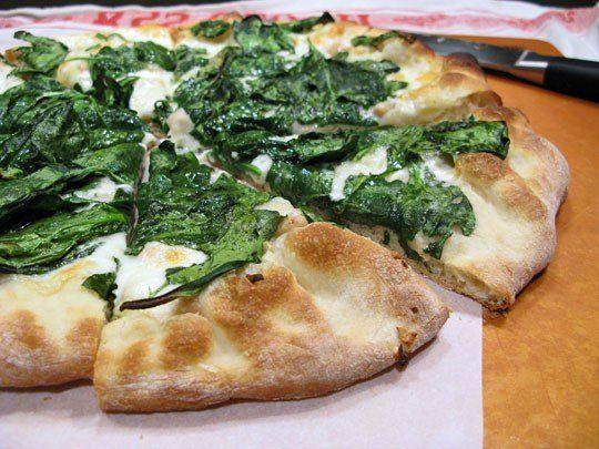 Recipe: Spinach, White Bean, and Taleggio Pizza