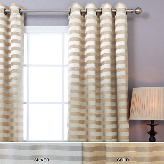 Gold And White Striped Curtains Horizontal Striped Curtains