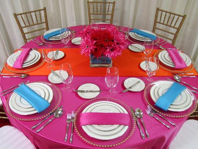 Decoração de mesa para o Carnaval