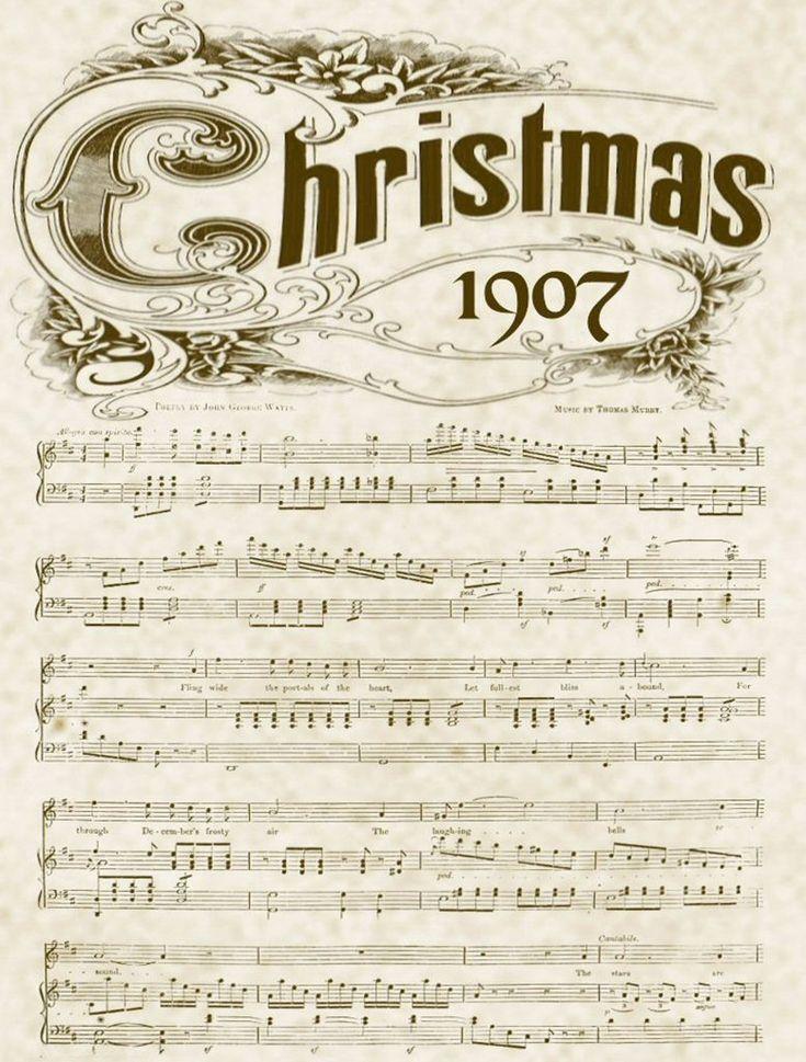 Christmas music printable