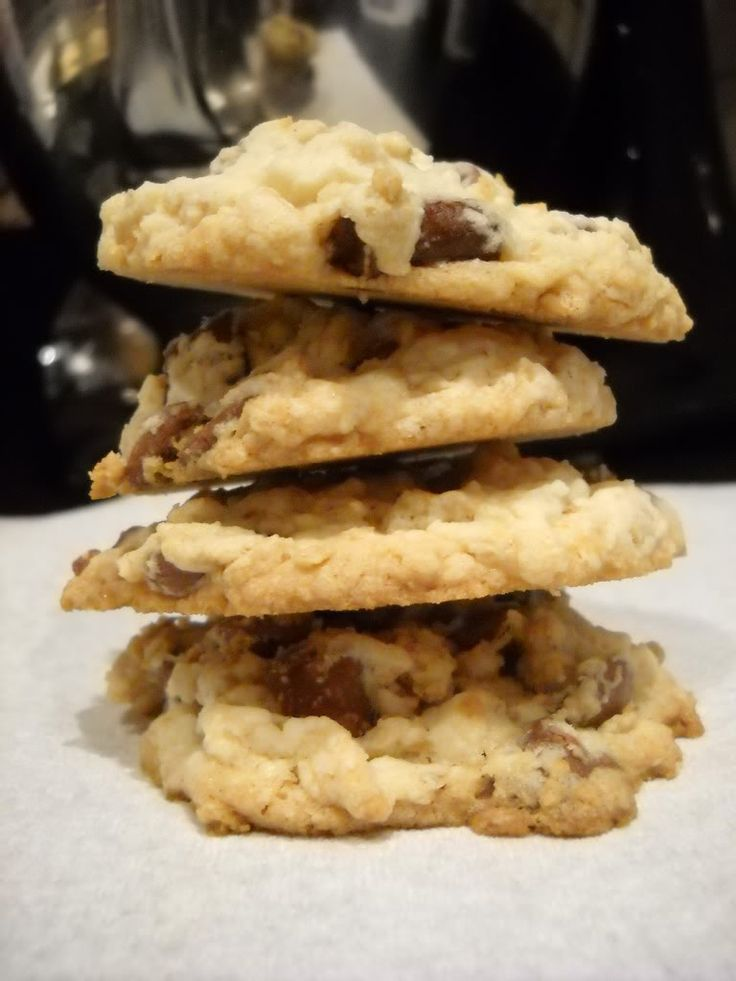 chocolate chip oatmeal shortbread cookie   Canterbury Cookies   Pinte ...