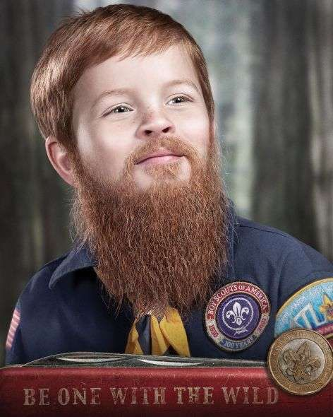 child beard campaigns these boy scouts ads capture young ones with ...