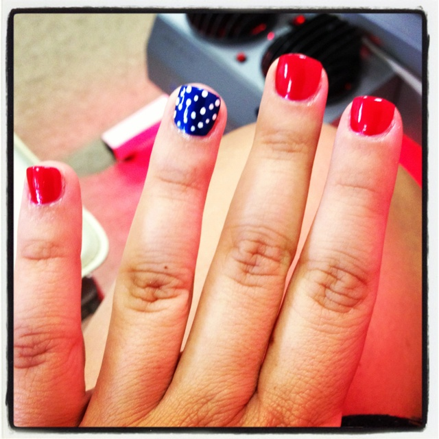 nail art for the 4th of july