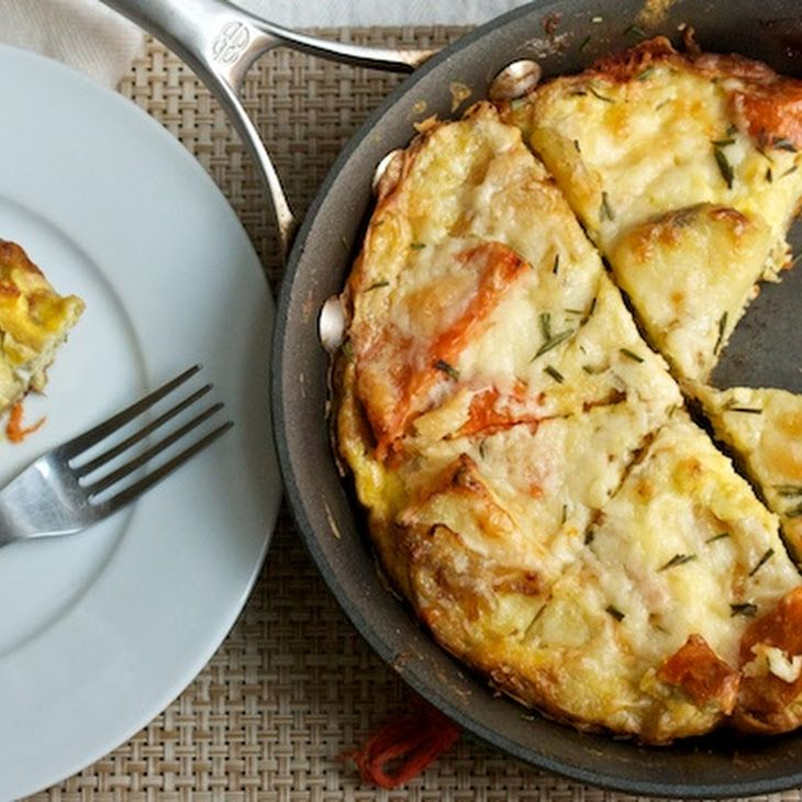Caramelized Onion And Potato Frittata With Ham And Swiss ...