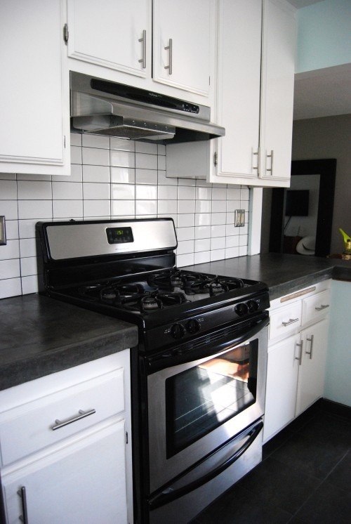 dark slate gray concrete countertops kitchen pinterest