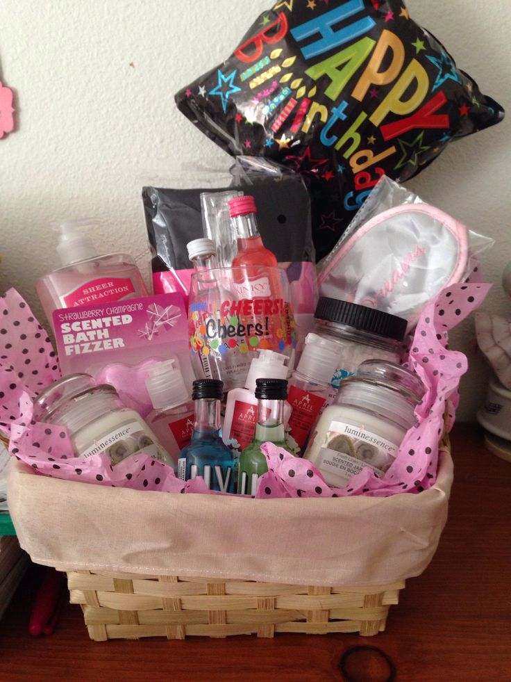 Christmas Gift Baskets For Girlfriend Basket I Put Together My Besties Bday It