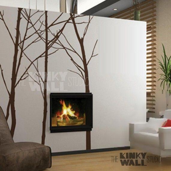 ... Trees Wall decal ,office, Nature,Living room wall decals Wall