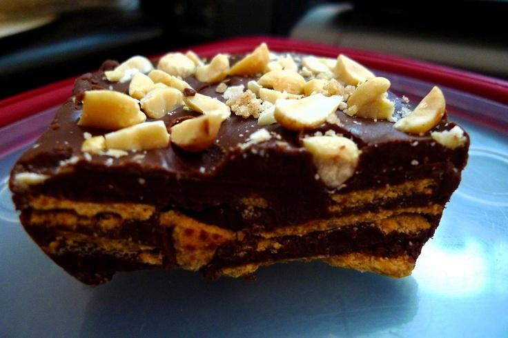 Chocolate Peanut Butter Wheat Thin Fudge