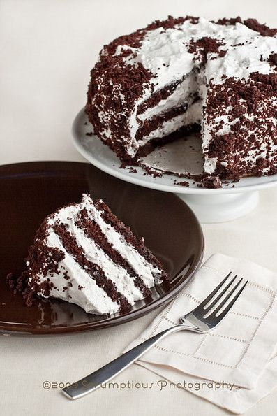 Devil's Food Cake With Marshmallow Frosting Recipe — Dishmaps