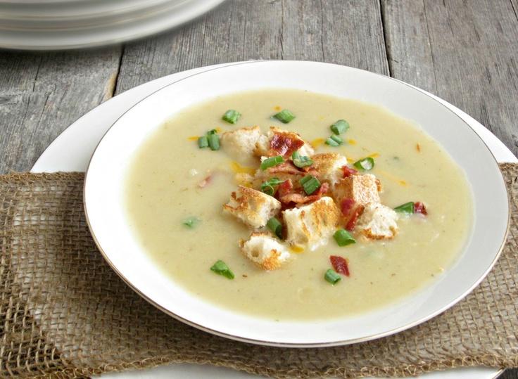 Creamy potato and leek soup. | feed me | Pinterest