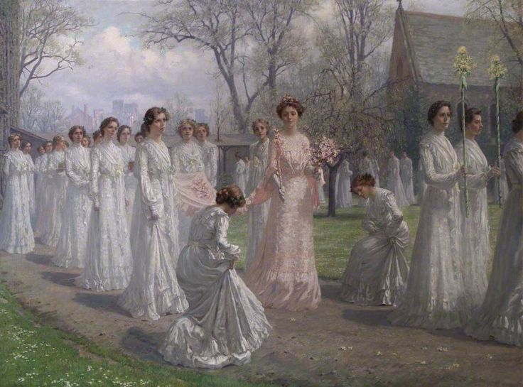 Anna Richards Brewster (1870-1952) — Whitelands College May Day Procession, 1902  (944x700)