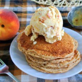 Roasted Peach Buttermilk Ice Cream | omg yum | Pinterest