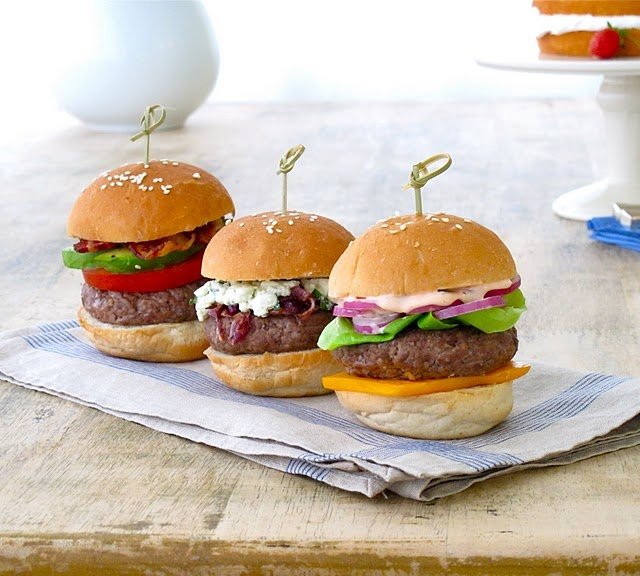 made their own burger and then 1 2 burgers were chosen to go forth for ...
