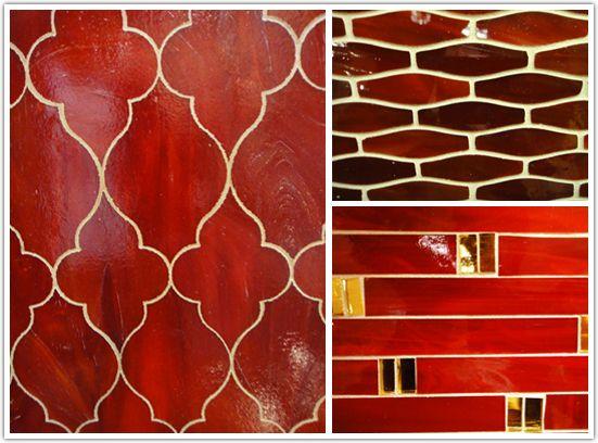 Red Backsplash Tile Google Search Kitchen Pinterest