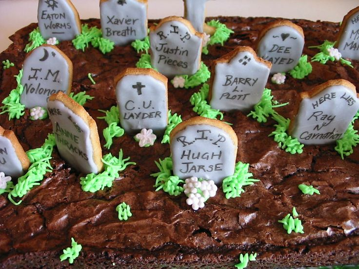 Gravestone Brownies Recipes — Dishmaps