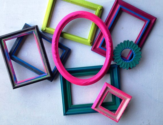 Bright Coloured Picture Frames