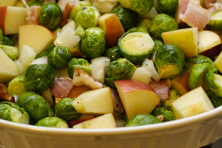 Brussel Sprouts w/ apples & bacon | Recipes - Sides, Condiments & Mis...