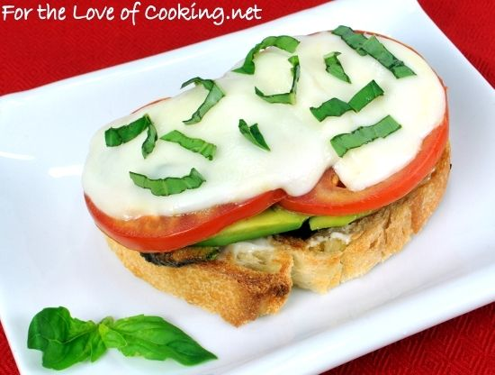 ... the Love of Cooking » Chicken and Avocado Caprese Open Faced Sandwich