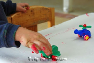 Five Themed Fun Ideas to do with your toddler using a weekly rhythm. Theme: Transport.