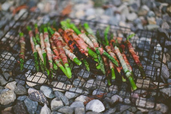 Grilled Pancetta Wrapped Asparagus | food ♥ | Pinterest