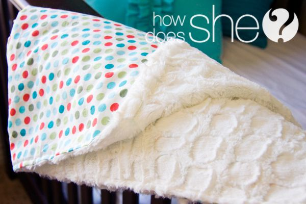 Super Simple, Cotton & Minky Blanket. Only takes about 30 minutes (and straight lines!) Perfect for gifts all year 'round!