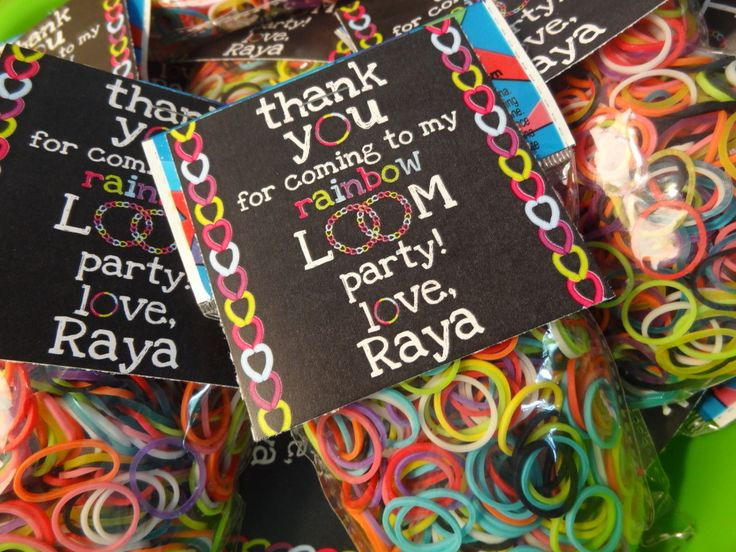 Rainbow Loom-themed Birthday Party - #partyidea #kidsparty