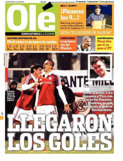 Ole | Diario Deportivo | River plate | Pinterest