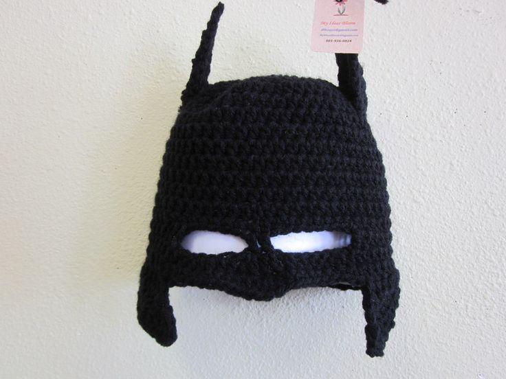 Crochet Pattern Batman Hat : This is awesome!! Crochet batman hat!! Crazy Hat lady ...
