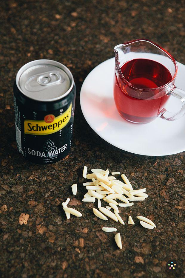 Homemade Shirley Temple - Cherry Almond Soda with Grenadine