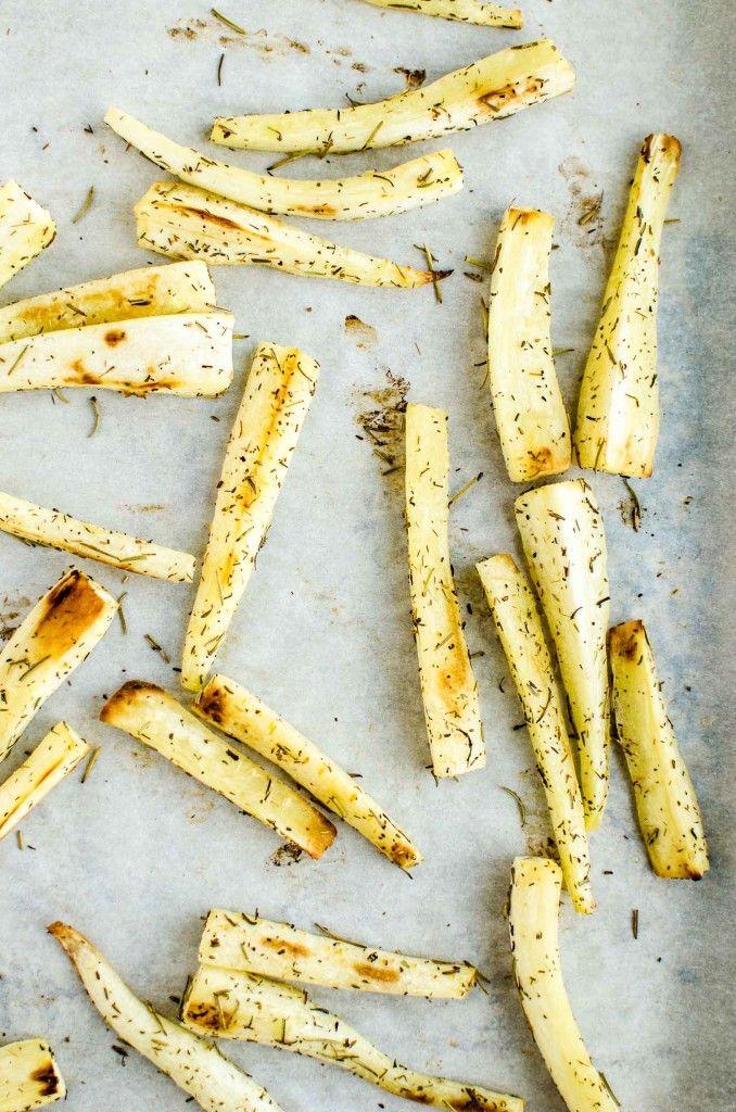 Parsnip Fries by katyskitchen.ca #vegan #glutenfree